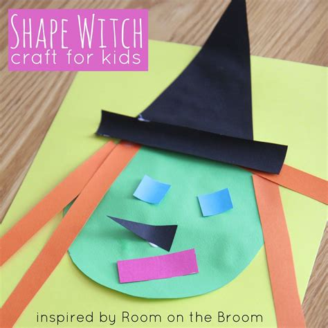 room on the broom craft activities toddler approved witch shape craft inspired by room on the broom