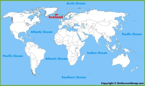 world map with iceland iceland location on the world map