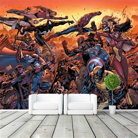 marvel wall murals popular marvel wall mural buy cheap marvel wall mural lots from china marvel wall mural