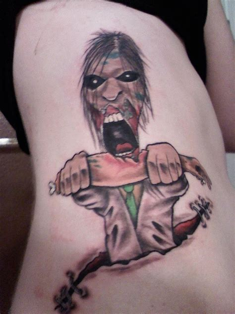 zombie tattoo tattoos designs ideas and meaning tattoos for you