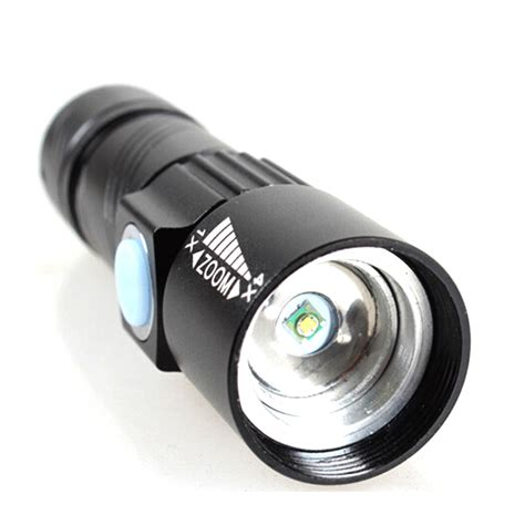 Senter Led Torch senter led mini usb rechargeable flashlight q5 led 2000