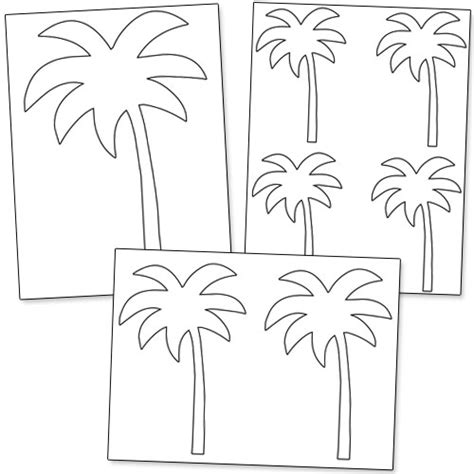 printable palm tree template printable treats com