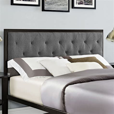 mia bedroom set mia tufted fabric bed brown gray dcg stores