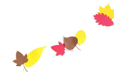 fall leaves garland printable autumn leaves printable garland london craft club
