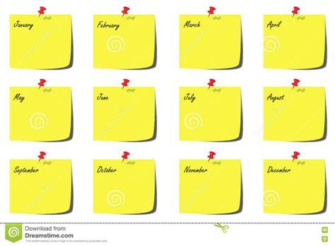 Calendario Meses Ejemplo Calendario Con Meses Stock De Ilustraci 243 N