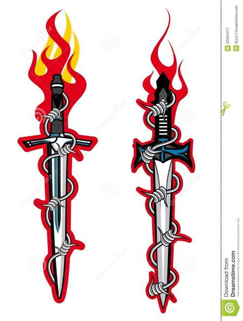 dagger tattoo stock image image 22954411