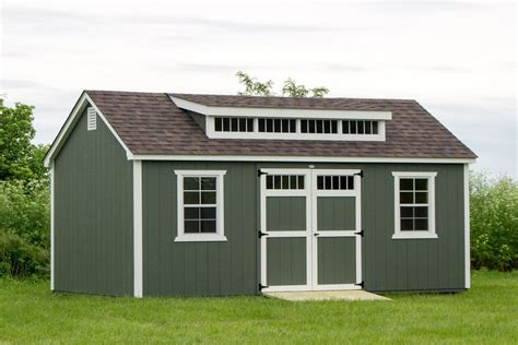 How To Build A Shed Dormer by 12x20 Painted Shed Dormer Byler Barns