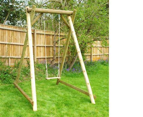 single wooden swing frame single swing frame wooden garden play equipment from