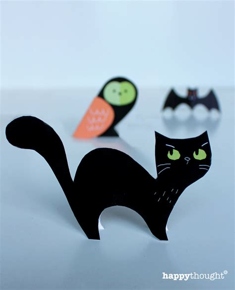 printable paper halloween crafts easy to make printable paper craft templates