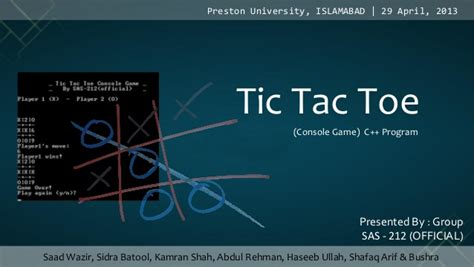tic tac toe c project presentation