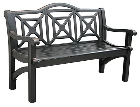 Black Metal Park Bench Outdoor Bench