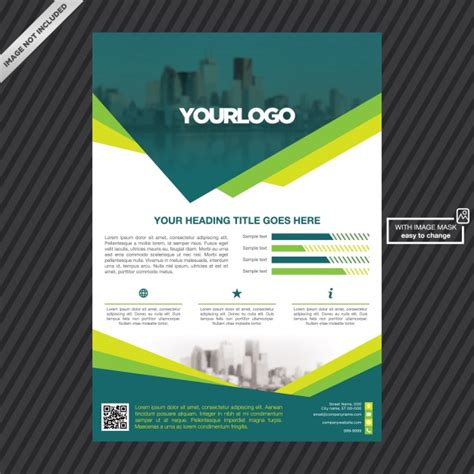 gratis desain leaflet brochure template design vector free download