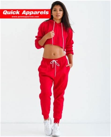 hood babes sweat suit red white 99828 at hoodboyz most selling stylish women sweat it sweatsuit in white