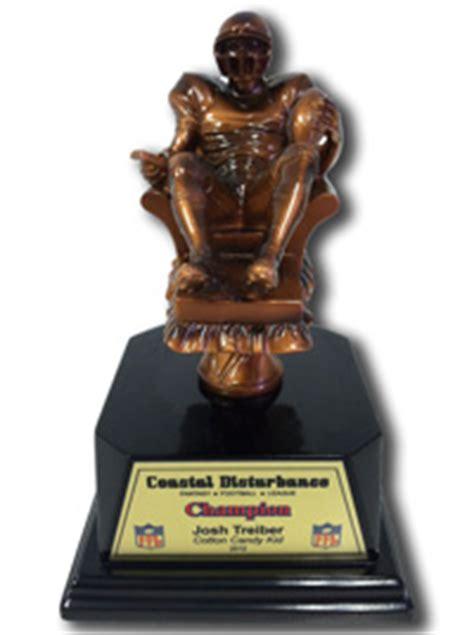fantasy football armchair quarterback trophy fantasytrophy