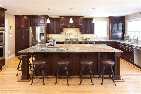 Black Handles For Kitchen Cabinets San Francisco Cherry Kitchen Cabinets Traditional With