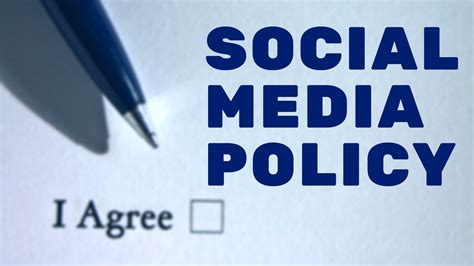 employee social media policy template social media policy design templates