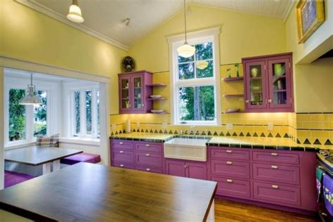 yellow and purple kitchen 15 unique kitchen designs with bold color scheme rilane