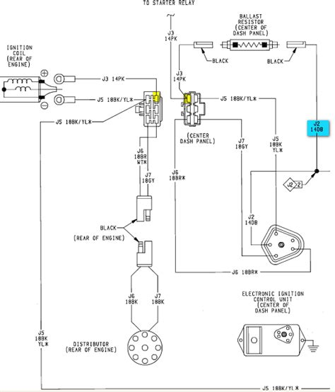 ignition coil wiring diagram for dodge dodge ignition