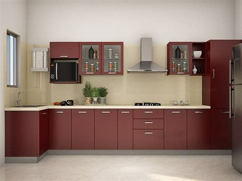 Modular Kitchens Designs Reily L Shaped Modular Kitchen Designs India Homelane