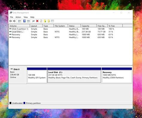 drive partition windows 10 how to partition your hard drive on windows 10 mspoweruser