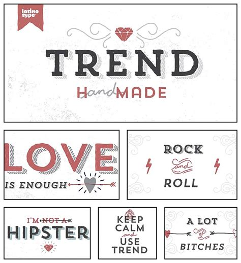 Trend Handmade Font - trend made font family bundle free