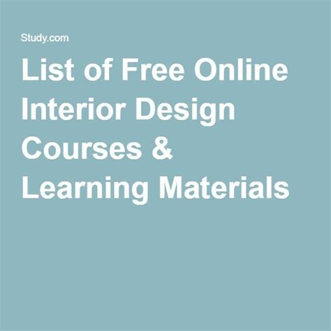 Interior Design Classes Free by 1000 Ideas About Interior Design Courses On