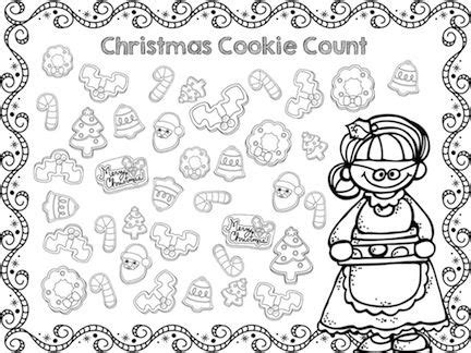 free printable holiday worksheets free christmas cookies christmas cookie count gt gt counting and graphing gt gt part of