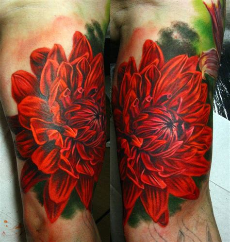 dahlia flower tattoo designs dahlia by nikasamarina on deviantart