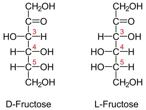 carbohydrates d and l fructose fischer und haworth projektion chemie