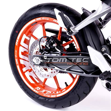 Ktm Duke 390 Tire Size Wheel Sticker Ktm Duke Rc 125 200 250 390 Nr 3 Stripes