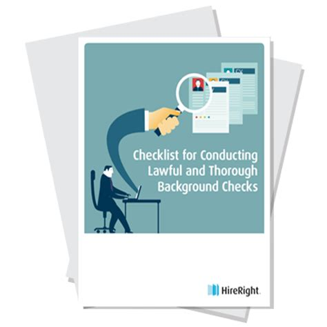 Conducting A Background Check Checklist For Conducting Lawful And Thorough Background Checks Hireright