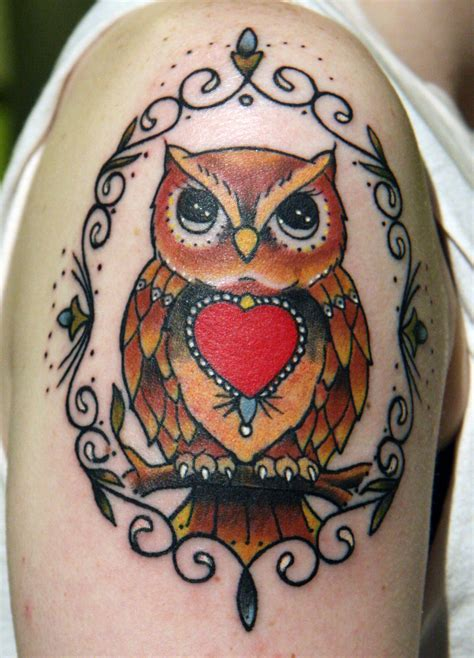 tattoo owl heart best owl tattoo designs gallery