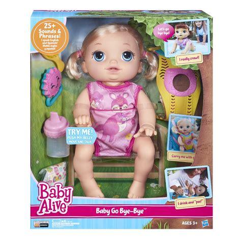 baby alive doll baby alive baby go bye bye talks