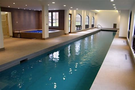 residential indoor pool indoor lap pool and spa with pool cover morristown new