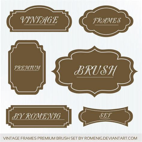 cornici gimp premium vintage frames brushes by romenig on deviantart