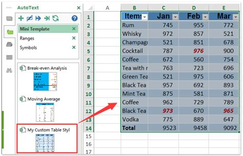 change table style excel how to save custom table style format in excel