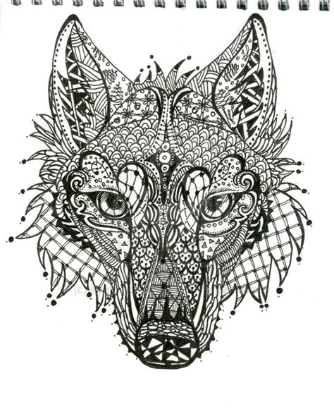 zendoodle drawing competition zen wolf doodle by lupinemoonfeather on deviantart