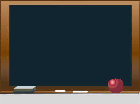 crayons board school powerpoint templates blue