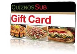 Quiznos Gift Cards - formfox rewards