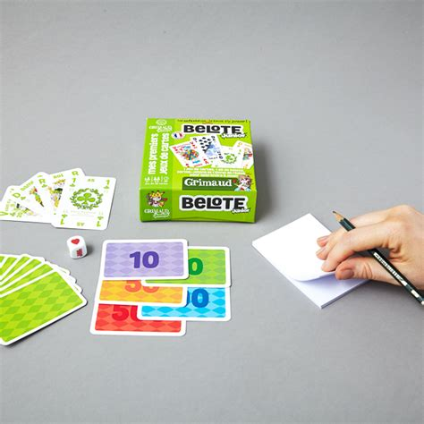 belote au comptoir jeu de 32 cartes pour belote junior cartes grimaud
