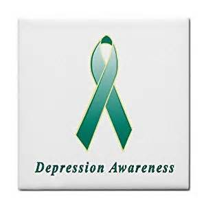 depression ribbon color depression awareness ribbon tile trivet
