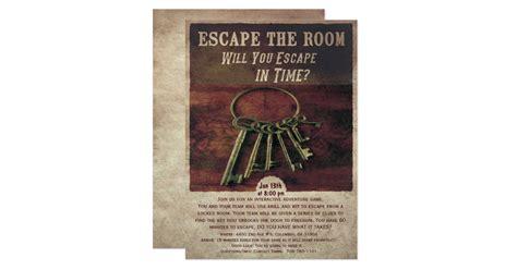 Escape The Room Invitation Zazzle Free Escape Room Invitation Template