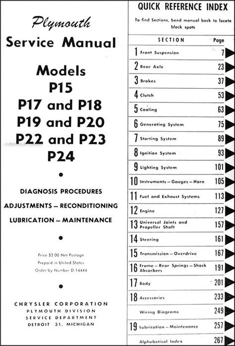 plymouth repair shop manual original