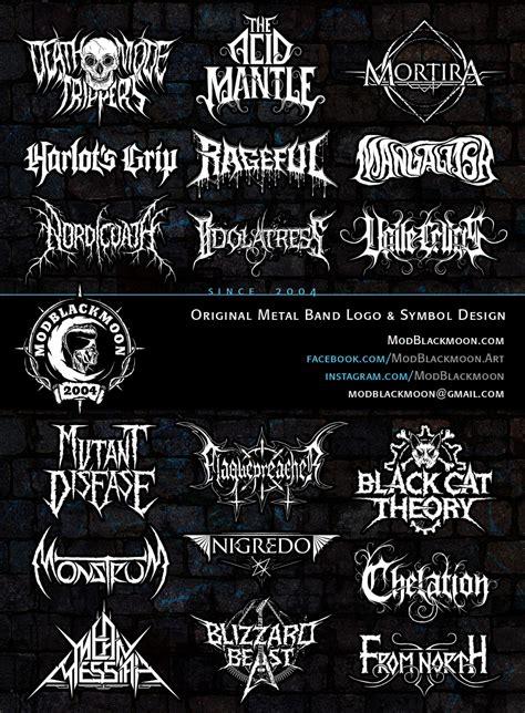 modblackmoon metal band logo artist symbol designer