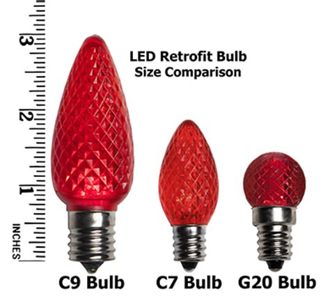 christmas bulb size chart commercial led c7 replacement bulbs