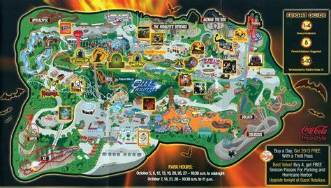 six flags magic mountain map sfmm ff 2012 map