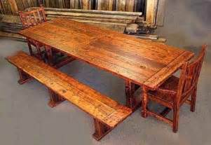 Rustic Wood Dining Table With Bench Rustic Dining Table With Bench The Interior Design Inspiration Board