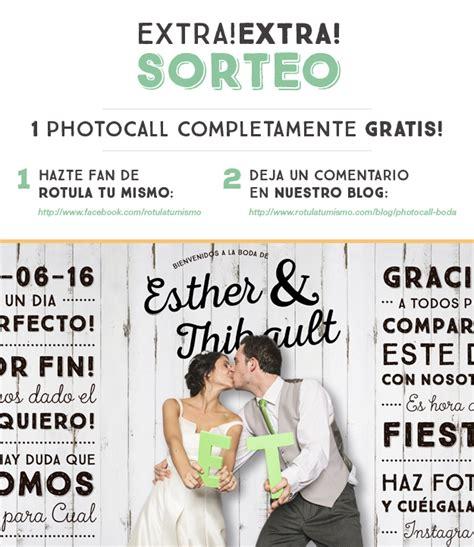 sorteo gratis sorteo photocall para boda gratis