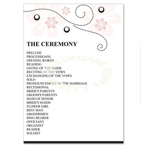 half fold wedding program template half fold wedding program templates free free