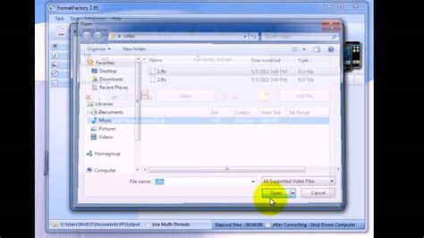 Format Factory Merge Video Files | how to join merge and convert multiple video files into